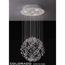 Diyas Colorado Pendant 4 Light Polished Chrome/Crystal
