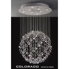 Diyas Colorado Pendant 8 Light Polished Chrome/Crystal