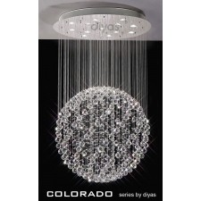 Diyas Colorado Pendant 13 Light Polished Chrome/Crystal