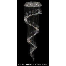 Diyas Colorado Multi-Spiral Pendant 9 Light Polished Chrome/Crystal