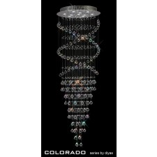 Diyas Colorado Pendant 10 Light Polished Chrome/Crystal