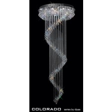 Diyas Colorado Multi-Spiral Pendant 15 Light Polished Chrome/Crystal