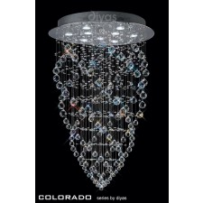 Diyas Colorado Pendant 9 Light Polished Chrome/Crystal