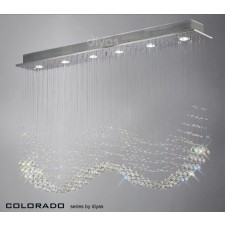 Diyas Colorado Pendant 6 Light Polished Chrome/Crystal