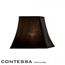 Diyas Contessa Small Square Shade 1 Light Black