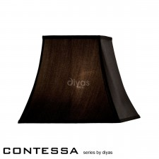 Diyas Contessa Small-Medium Square Shade 1 Light Black