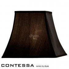 Diyas Contessa Square Shade 1 Light Black