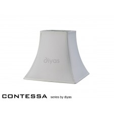 Diyas Contessa Small-Medium Square Shade 1 Light White