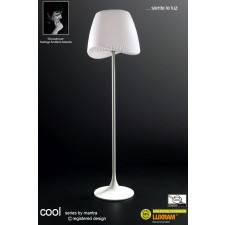 Cool Floor Lamp 2 Light Indoor Foot Switch White