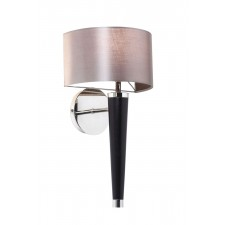Corvina Walnut and Silver Wall Light