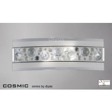 Diyas Cosmic Wall Lamp Switched 2 Light Chrome/Crystal