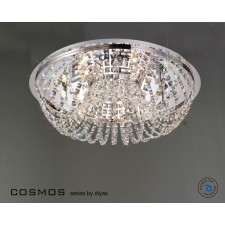 Diyas Cosmos Ceiling 7 Light Polished Chrome/Crystal