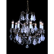 Impex Louvre Chandelier Antique Brass - 8 Light