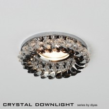 Diyas Round Crystal Cluster Downlight Clear/Smoke (Complete)