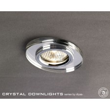 Diyas Oval Crystal Downlight Chrome (Rim Only)