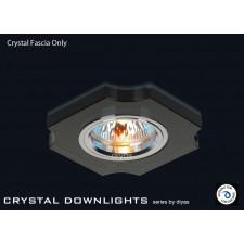 Diyas Black Crystal Concave Corner Downlight (Rim Only)
