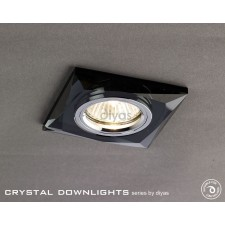 Diyas Square Crystal Downlight Black (Rim Only) Small