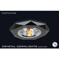 Diyas Black Crystal Hexagonal Downlight (Rim Only)
