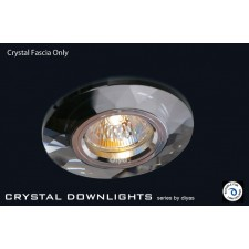 Diyas Clear Crystal Chamfered Round Downlight (Rim Only)