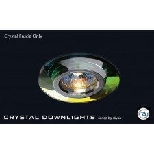 Diyas Spectrum Crystal Chamfered Round Downlight (Rim Only)