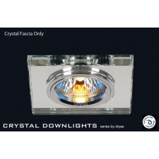 Diyas Clear Crystal Square Downlight (Rim Only)
