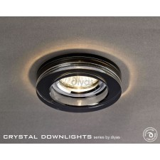 Diyas Round Crystal Downlight Black (Rim only)