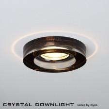 Diyas Round Crystal Downlight Bronze (Rim only)