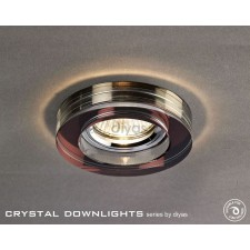 Diyas Round Crystal Downlight Purple (Rim only)