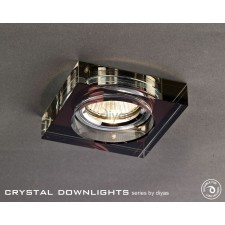 Diyas Square Crystal Downlight Purple (Rim Only)