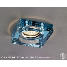 Diyas Square Bubble Crystal Downlight Aqua (Rim Only)