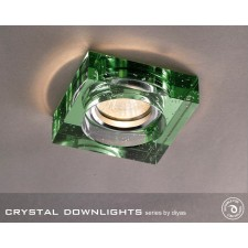 Diyas Square Bubble Crystal Downlight Green (Rim Only)