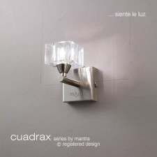 Cuadrax Wall Lamp 1 Light Polished Chrome