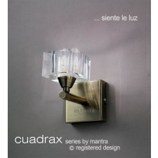 Cuadrax Wall Lamp 1 Light Antique Brass