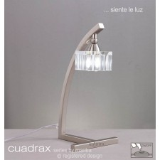 Cuadrax Table Lamp 1 Light Polished Chrome