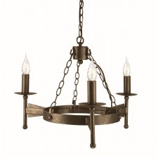 Elstead CW3 OLD BRZ Cromwell 3 - Light Chandelier Old Bronze