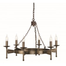 Elstead CW6 OLD BRZ Cromwell 6 - Light Chandelier Old Bronze