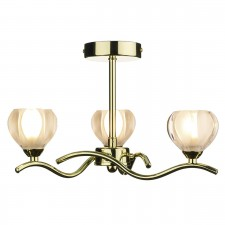 Cynthia Ceiling Light - Polished Brass 3 Light