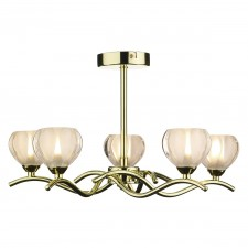 Cynthia ceiling Light - Polished Brass 5 Light