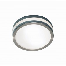 Cyro Flush Ceiling Light - IP44 Stainless Steel