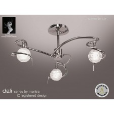 Dali Semi Ceiling 3 Lights Polished Chrome