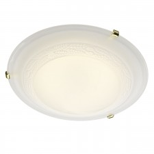 Damask Flush Ceiling Light - Polished Brass