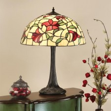 Interiors1900 Red Lilies Large Table Lamp