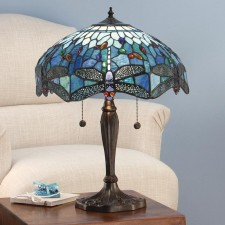 Interiors1900 Dragonfly Blue LargeTable Lamp
