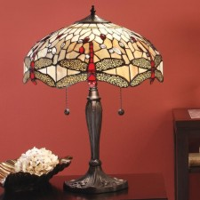 Interiors1900 Beige Dragonfly Large Table Lamp