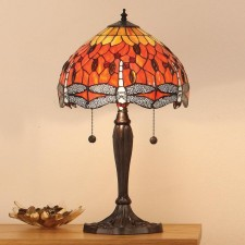 Interiors1900 Dragonfly Flame Medium Table Lamp