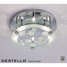Diyas Destello Ceiling 6 Light Round Polished Chrome/Crystal