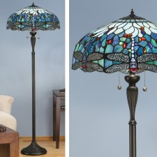 Interiors1900 Dragonfly Blue Floor Lamp