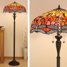 Interiors1900 Dragonfly Flame Floor Lamp