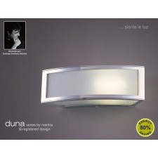 Duna Wall Lamp 1 Light Polished Chrome. (E27 Lamp holder version).
