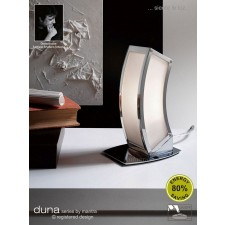 Duna Table Lamp 1 Light Polished Chrome. (E27 Lamp holder version).